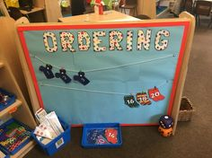 Maths ordering interactive display