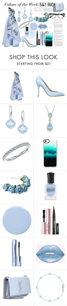 """""""Colour of the Week"""" by paige2206 ❤ liked on Polyvore featuring Monique Lhuillier, Semilla, Swarovski, Ross-Simons, Blue Nile, Casetify, Crown and Glory, Deborah Lippmann, Too Faced Cosmetics and Estée Lauder"""