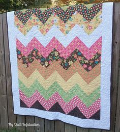 I've got to say, I've read a lot of quilt and specifically chevron quilt tutorials and this is definitely top 3! It's simple and straight forward, maybe not the most detailed for a first-time quilter, but has some fantastic information! My Quilt Infatuation: Easy Peasy Chevron Quilt Tutorial
