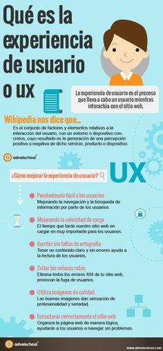 Qué es la experiencia de usuario (UX) #infografia
