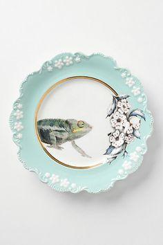 Natural World Dessert Plate, Chameleon #anthropologie