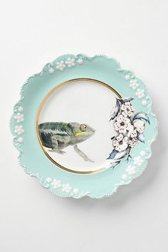 i will own this one day. it is too quirky for me not to! ;)    Natural World Dessert Plates #anthropologie
