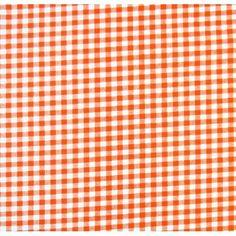 SheetWorld Fitted Sheet (Fits BabyBjorn Travel Crib Light) - Orange Gingham Check