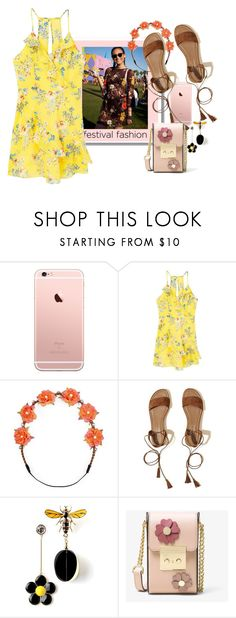 """Good Vibes: Festival Fashion"" by lbite ❤ liked on Polyvore featuring MANGO, Carole, Hollister Co., MICHAEL Michael Kors and festivalfashion"