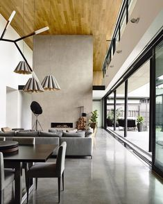 OBSESSED with the #interiors of the #ConcreteHouse by @mattgibsonad  Photo by @derek_swalwell by designmilk