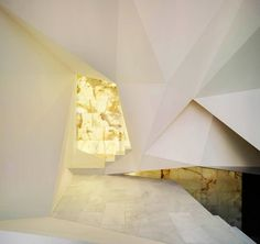 Pantheon Nube in Murcia, Spain by Clavel Arquitectos. modern spanish architecture is a. Origami Architecture, Spanish Architecture, Amazing Architecture, Contemporary Architecture, Architecture Details, Interior Architecture, Interior And Exterior, Interior Design, Installation Architecture