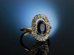 LOVE YOU! RING GOLD 585 SAPHIR BRILLANTEN VERLOBUNGSRING ÖSTERREICH