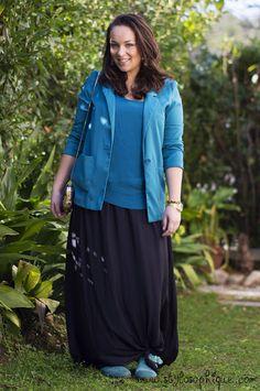 Gonna lunga e verde acqua #outfit #fashionblogger #curvy