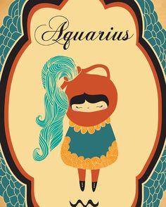 AQUARIUS - Zodiac Sign | Aquarius is kind, generous, honest, loyal, independent and inventive.