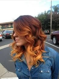 Image result for brown to copper ombre