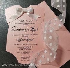 Baby and Co. Onesie Invitation Baby & Co. Bebe Shower, Baby Shower Niño, Baby Shower Winter, Baby Shower Invites For Girl, Girl Shower, Baby Shower Themes, Baby Shower Decorations, Shower Ideas, Baby Boy Invitations