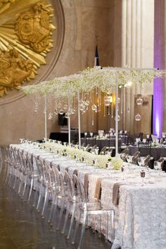 Loving this centerpiece!! High centerpiece without the issue of will it block your view!! Izehi Photography