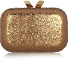 Love this: Margo Crinkle Metallic Box Clutch @Lyst