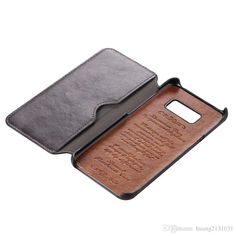 High imitation Leather mobile phone holster, Samsung s8/s8 plus simple luxury leather case, wallet type left and right mobile phone case