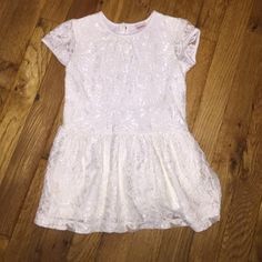 Toddler Peplum lace shirt Arizona peplum off white lace shirt size 2T Arizona Jean Company Shirts & Tops