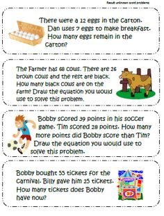 Free Common Core Word Problem Review!!