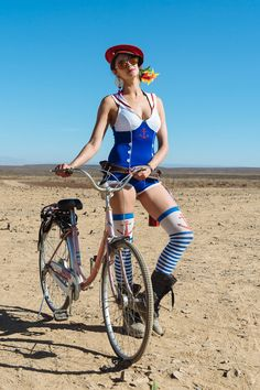 A blue sailor suit spotted at Burning Man.