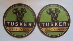 Tusker Malt Beer Coasters