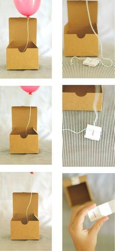 Balloon message. Love this idea ... Uploaded with Pinterest Android app. Get it here: http://bit.ly/w38r4m