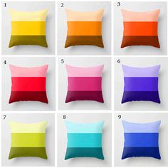 Great Idea-A great accent piece! Color Block Pillows Modern Decorative Throw by UrbanCreative | $52.00