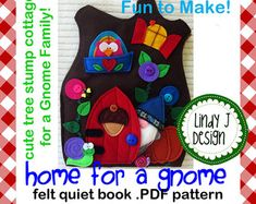 RHYME TIME 2 felt Quiet Book .PDF Pattern by LindyJDesign on Etsy