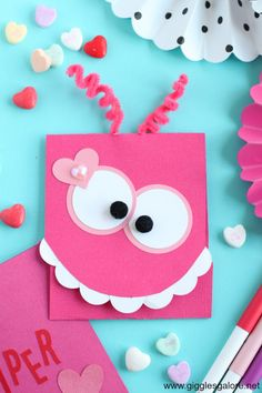 DIY Monster Valentine's Day Card Cute DIY Monster Valentine Card made with Cricut Maker and Scoring Wheel.Cute DIY Monster Valentine Card made with Cricut Maker and Scoring Wheel. Happy Valentine Day Quotes, Valentine Day Crafts, Secret Valentine, Diy Valentines Cards, Homemade Valentines, Happy Quotes, Diy For Kids, Crafts For Kids, Baby Dekor
