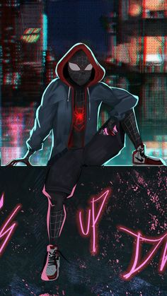 Movie Spider-Man: Into The Spider-Verse Miles Morales Spider-Man Miles Spiderman, Miles Morales Spiderman, Black Spiderman, Spiderman Spider, Marvel Art, Marvel Heroes, Marvel Characters, Man Wallpaper, Avengers Wallpaper