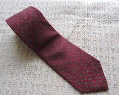 Robert Talbott Men Burgundy White Silk Tie #RobertTalbott #Tie