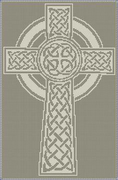 Celtic Cross Filet Crochet Pattern by CraftySasha on Etsy