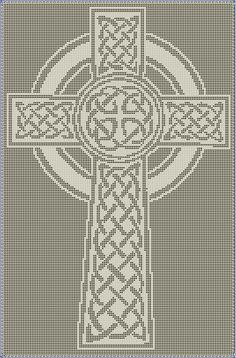 Celtic Cross Filet Crochet Pattern by CraftySasha on Etsy