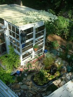 another awesome recycled greenhouse