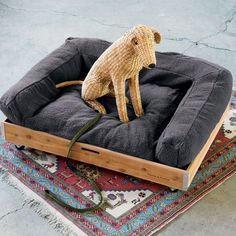 Emerson Grey Dog Bed