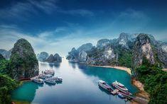 Lataa kuva Ha Long Bay, 4k, meri, satama, Quang Ninh, Vietnam, Aasiassa