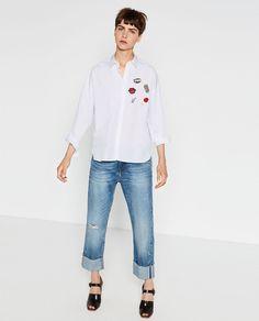 Zdjęcie 1 KOSZULA OVERSIZE Z POPELINY z Zara Zara New, Zara Women, Winter Fashion, Normcore, Collection, Denim, My Style, How To Wear, Fashion Trends