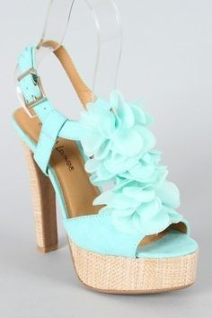 Turquoise sandals - Shoes and beauty