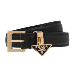 Other Accessories, Women Accessories, Leather Bag Design, Triangle Logo, Prada Saffiano, Branded Belts, Metal Buckles, Cute Casual Outfits, Black Belt