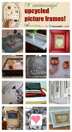 Love old picture frames? Show them off with these fantastic upcycle ideas!