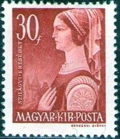 Znaczek: Erzsébet Szilágyi (Węgry) (Great Women of Hungarian History) Mi:HU 715 Hungary History, Great Women, Postage Stamps, Artwork, Stamps, Banknote, Work Of Art