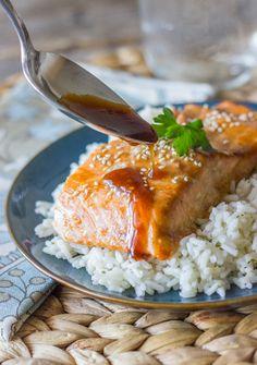 Related PostsTeriyaki Glazed Chicken Kebabs Asian Slow-Roasted SalmonStrawberry Basil Glazed SalmonMaple Glazed Salmon with Tomato-Dill CouscousTequila & Sriracha Glazed Salmon