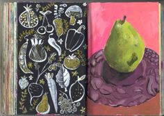 5.24&25 Sketchbook pages August Wren