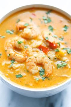 Easy Thai Shrimp Soup.