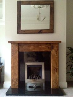 Handmade reclaimed wooden fire suround, lovely