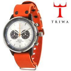 TRIWA(トリワ)  リストウォッチ 腕時計 オレンジ×シルバー クロノグラフ 【送料無料】 wc-triwa-037