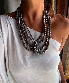 Statement Jewelry, Pearl Jewelry, Gemstone Jewelry, Beaded Jewelry, Jewelery, Beaded Necklace, Necklaces, Colar Fashion, 50 Fashion