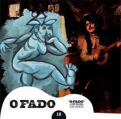 """2012 O Fado de José Malhoa 100 Anos 15 [Tugaland/A Bela e o Monstro] ilustração: Jorge Nesbitt """"Pintura Popular"""" #albumcover #illustration #fado #music"""