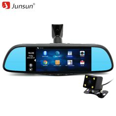 Junsun 7  Special Car DVR Camera Mirror FHD 1080p Android 4.4 GPS navigation Bluetooth Dual Lens Video 16GB Recorder automobile * AliExpress Affiliate's buyable pin. Detailed information can be found on www.aliexpress.com by clicking on the image
