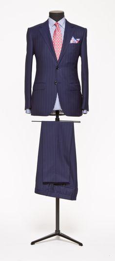 Blue Suit Stripe Blue S140 http://www.tailormadelondon.com/shop/tailored-suit-fabric-3865-stripe-blue/