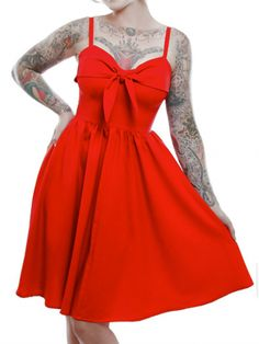 "Women's ""Lucille"" Swing Dress by Lucky 13 (Red)"