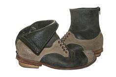 #WalkaholicS - Navy Cream Leather Boots for Women  www.walkaholics.com #walkaholics #design #boots #shoes #handmade #yaffo #jaffa #israel #live #love #custom #peace
