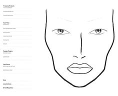 10 Blank Face Chart Templates (Male Face Charts and Female Face Charts) - Beautynewbie